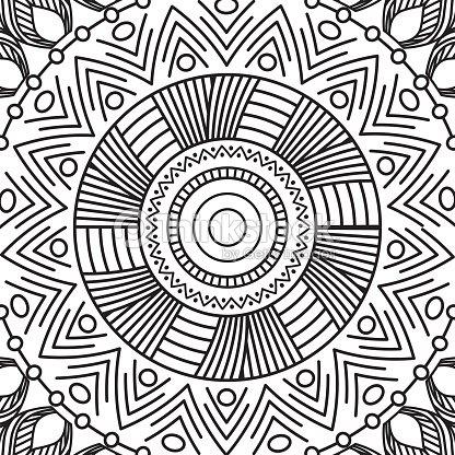 Coloriage Adulte Vintage.Mandala Des Elements Decoratifs Vintage Motif Oriental Marocain