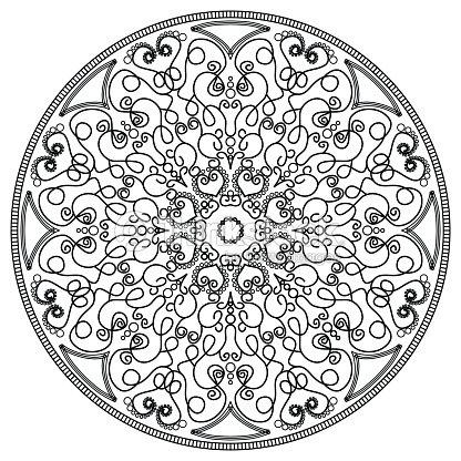 Mandala Vintage Round Ornament Pattern Islamic Arabic Indian Vector ...