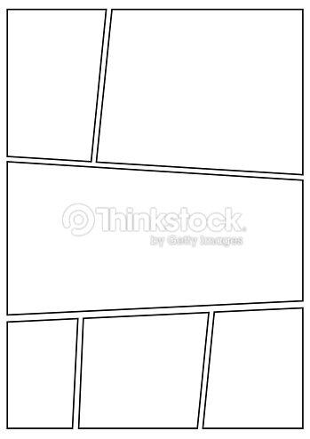 Manga Storyboard Layout Thick Stroke