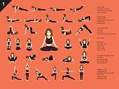 Manga Yoga Posture EPS10 File Format