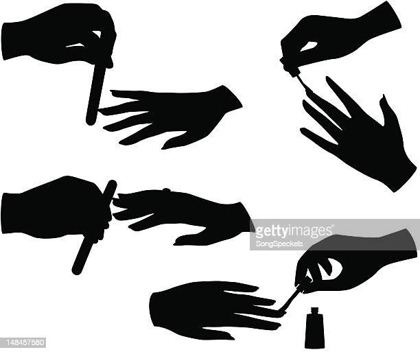 Manicure silhouettes