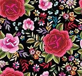 Beautiful Spanish inspired Flamenco vector print