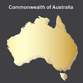 Map Australia isometric concept. 3d flat illustration Map of Australia.