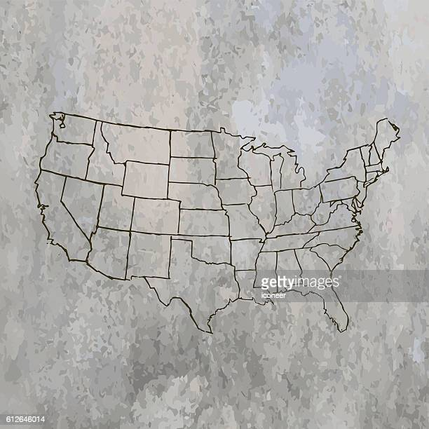Us Map Without State Names Stock Photos And Pictures Getty Images - Us map without state names