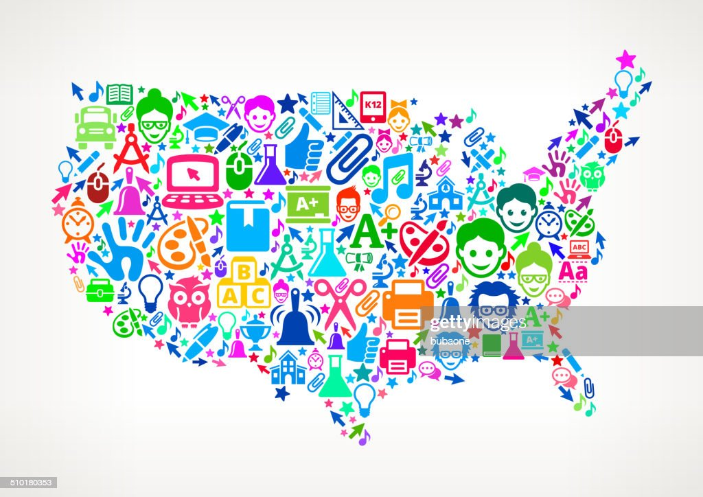 Usa Map Education School Royalty Free Vector Art Pattern Vector - Free usa map