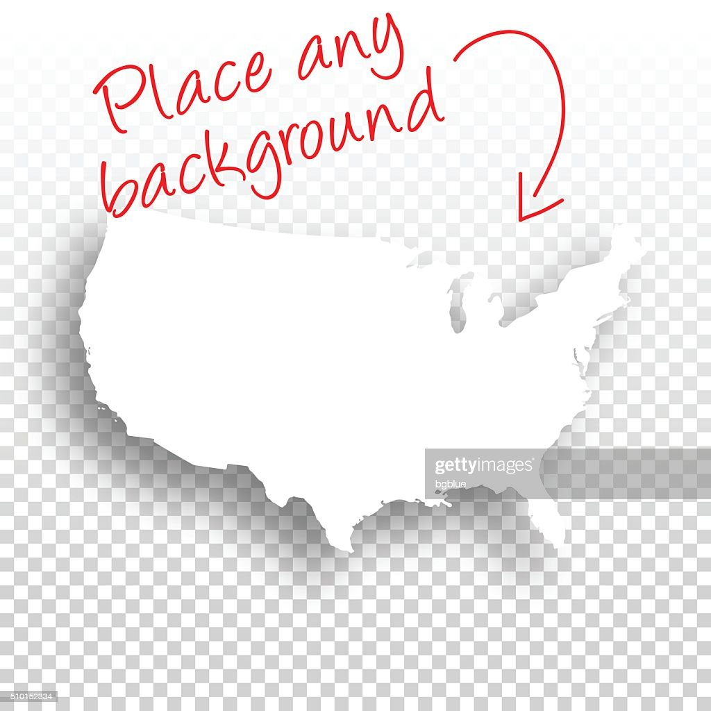 Usa Map For Design Blank Background Vector Art Getty Images - Blank usa map