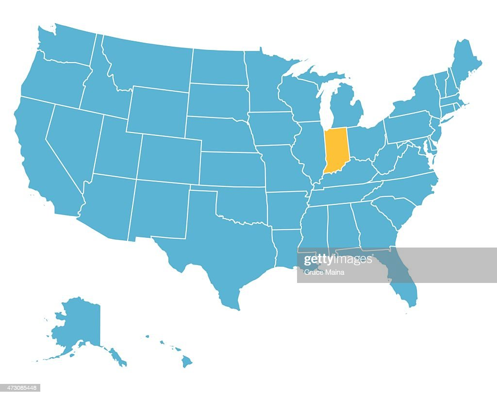 Reference Map Of Indiana USA Nations Online Project Indiana State - Indiana on map of usa