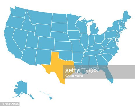 Usa Map Highlighting State Of Texas Vector Vector Art Getty Images - Texas state usa map