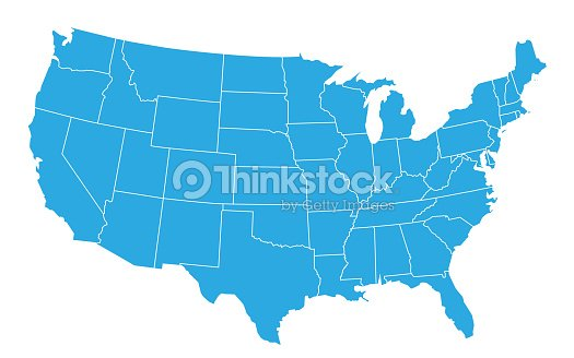 USA map isolated on white background. United States of America country. Vector : stock vector