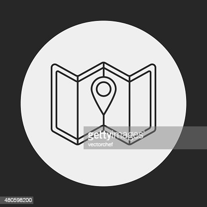 map line icon : Vector Art