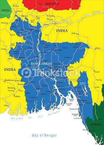Map Of Asia Focusing On Bangladesh Vector Art | Thinkstock