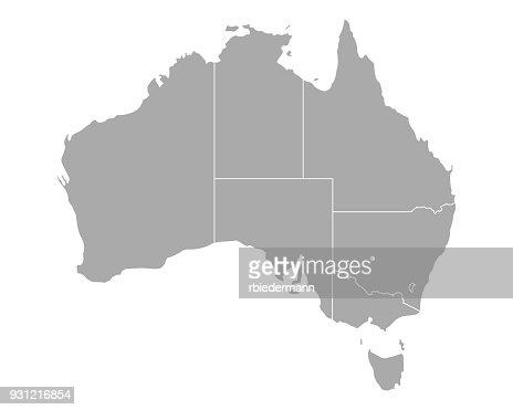 Map of Australia : stock vector