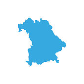 Map of Bavaria - Germany Vector Illustration