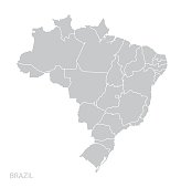 Map of Brazil. Vector
