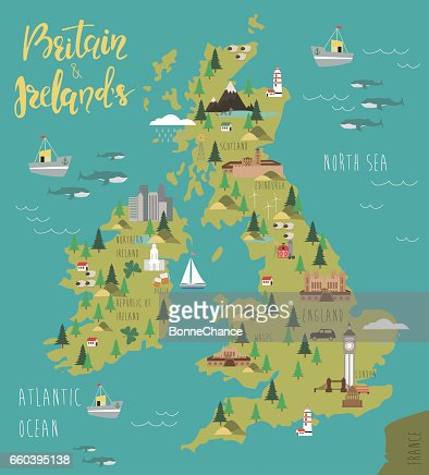 Map of Britain and Ireland's : Vector Art