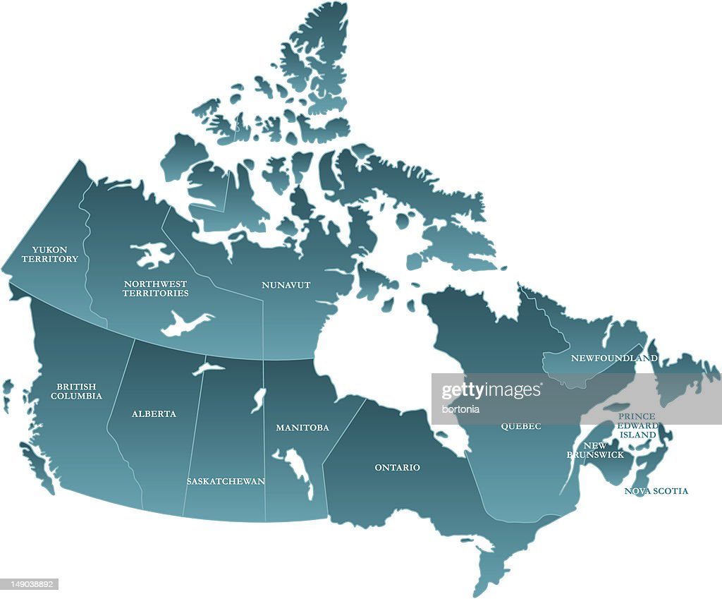 Map Of Canada Labelled Vector Art Getty Images - Labelled map of canada