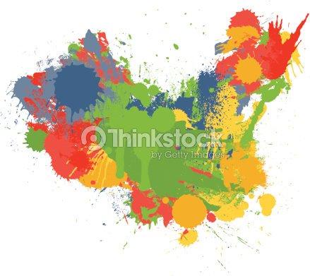 Map Of China In Paint Splatter Vector Art   Thinkstock
