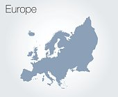 Map of Europe on vector background