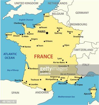 map of France - vector illustration : Vector Art