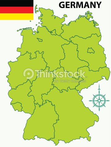 Map Of Germany And Flag Vector Art Thinkstock - Germany map clipart