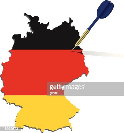 Germany Map Flag Stock Illustration Getty Images - Germany map clipart