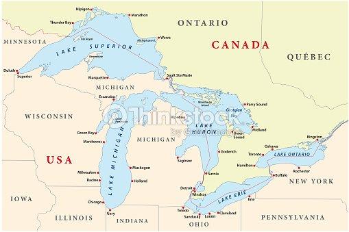 map of great lakes vector art thinkstock