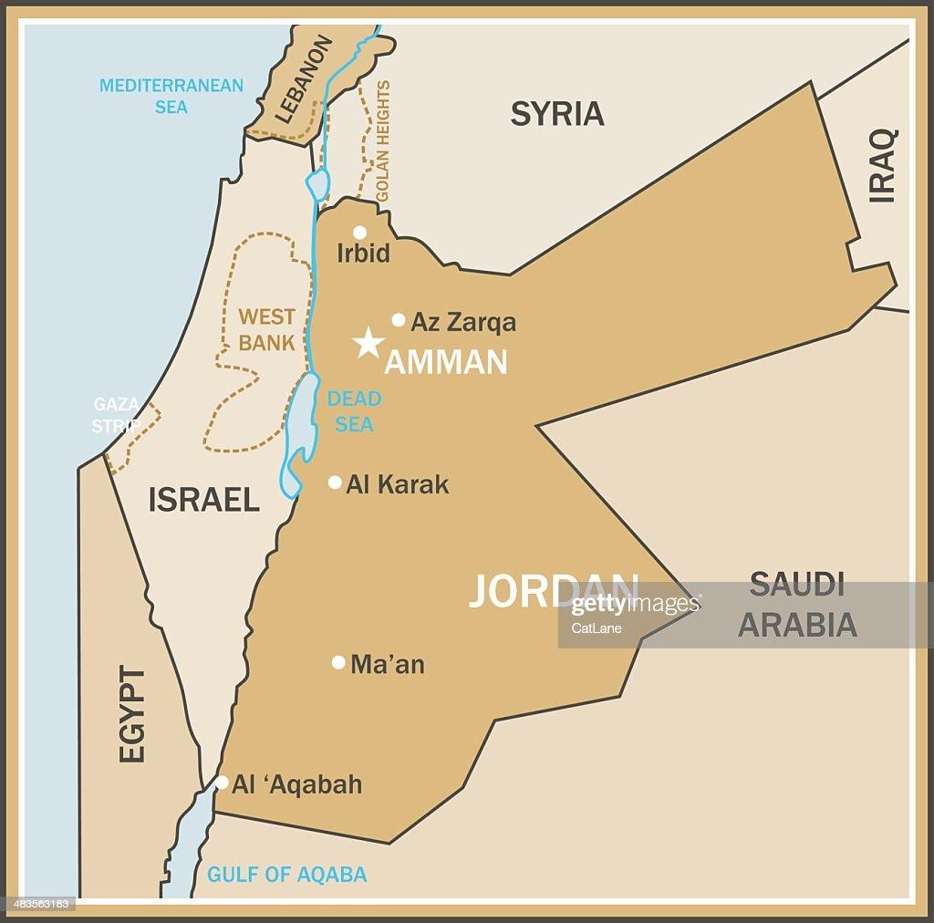 Map Of Jordan Vector Art Getty Images - Jordan map