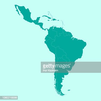 Map of Latin America. : stock vector