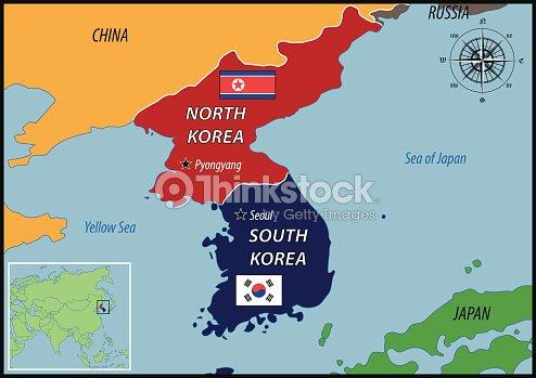 Mapa de la ubicacin de corea y un parque temtico six flags arte mapa de la ubicacin de corea y un parque temtico six flags arte vectorial gumiabroncs Images