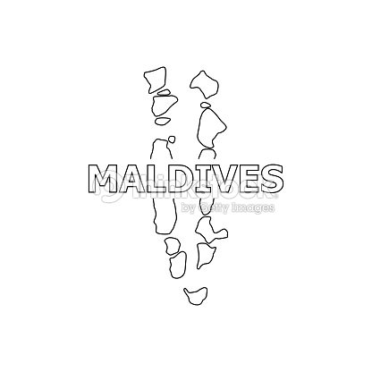 Map Of Maldives Vector Icon stock vector - Thinkstock