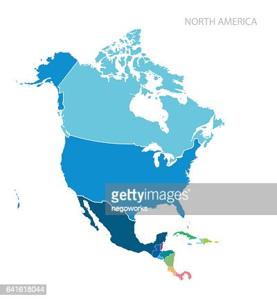 Map of North America : stock vector