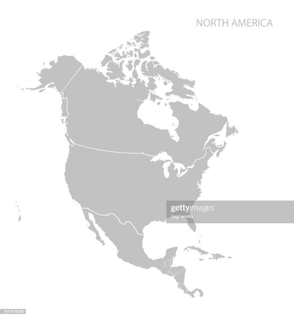 map of north america vector art thinkstock rh thinkstockphotos in north america vector map dwg north america vector map detailed illustrator