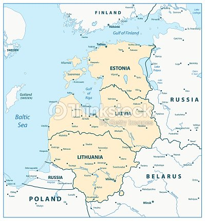 Map Of The Baltic States stock vector - Thinkstock