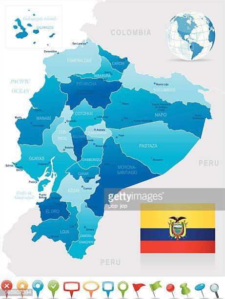 Ecuador Stock Illustrations And Cartoons Getty Images - Ecuador provinces map