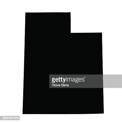 map of the U.S. state Utah : stock vector