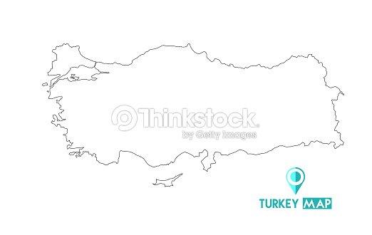 Map Of Turkey High Detailed Vector Map Turkey Vector Art | Thinkstock