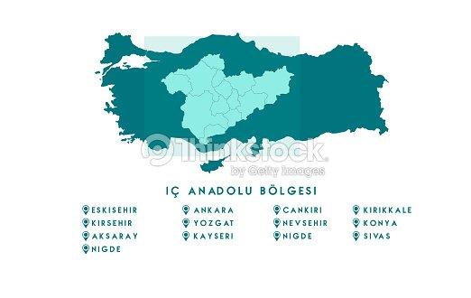 Map Of Turkey High Detailed Vector Map Turkey stock vector | Thinkstock