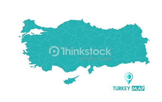 Map Of Turkey High Detailed Vector Map Turkey Vector Art | Thinkstock