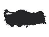 Vector illustration of map of Turkey