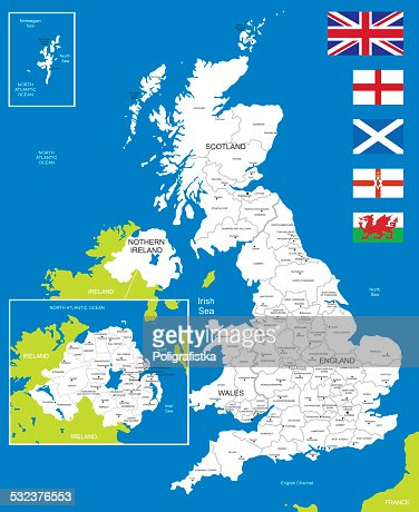 Map Of United Kingdom Vector Art | Getty Images