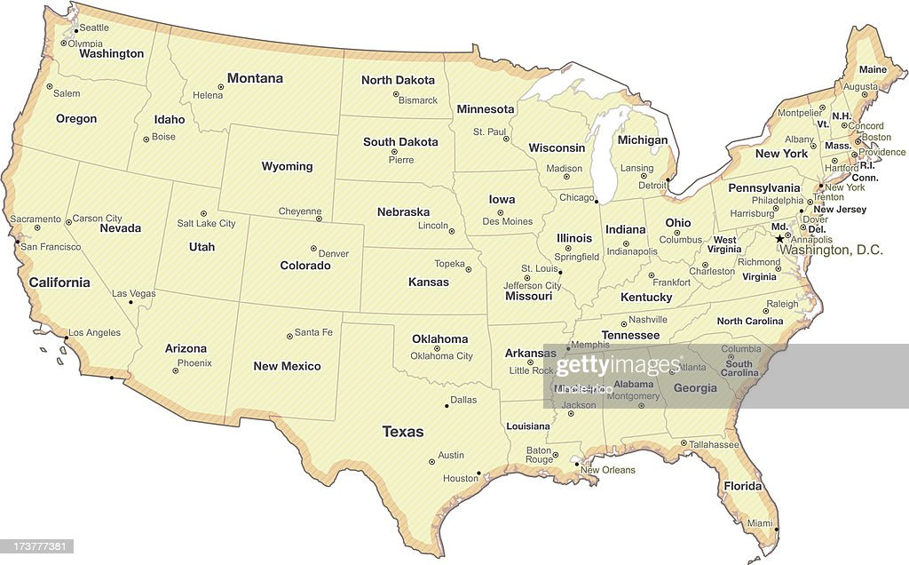 Map Of Usa With Longitude And Latitude Lines Cities New United
