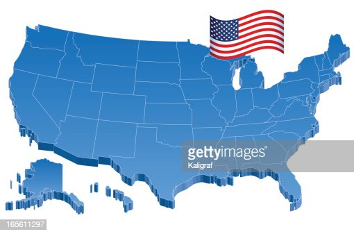 D Us Map Stock Images RoyaltyFree Images Vectors Shutterstock - Us vector map