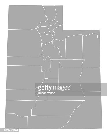 Map of Utah : stock vector