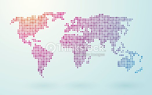 Map of world composed of small colored squares vector art thinkstock map of world composed of small colored squares vector art gumiabroncs Image collections