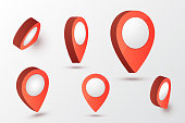 Map pointer vector illustration. Location symbols. Vector arrow mark pin.