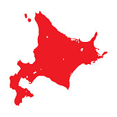 Map silhouette of Hokkaido island and prefecture. Map of Hokkaido, literally Northern Sea Circuit, formerly known as Ezo, Yezo, Yeso, or Yesso, is the second largest island of Japan.