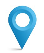 Map symbol, map pointer, vector icon