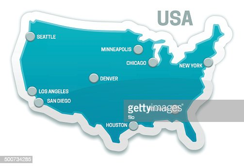 Usa Map And All States Vector Art Getty Images - Usa map image