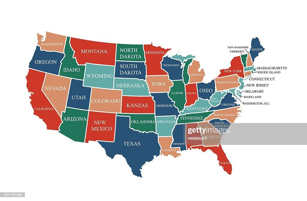 Usa Map Vector Art Thinkstock