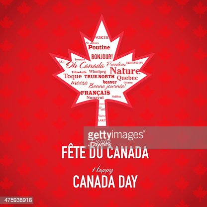 maple leaf happy canada day celebration bilingual greeting design template vector art getty images. Black Bedroom Furniture Sets. Home Design Ideas